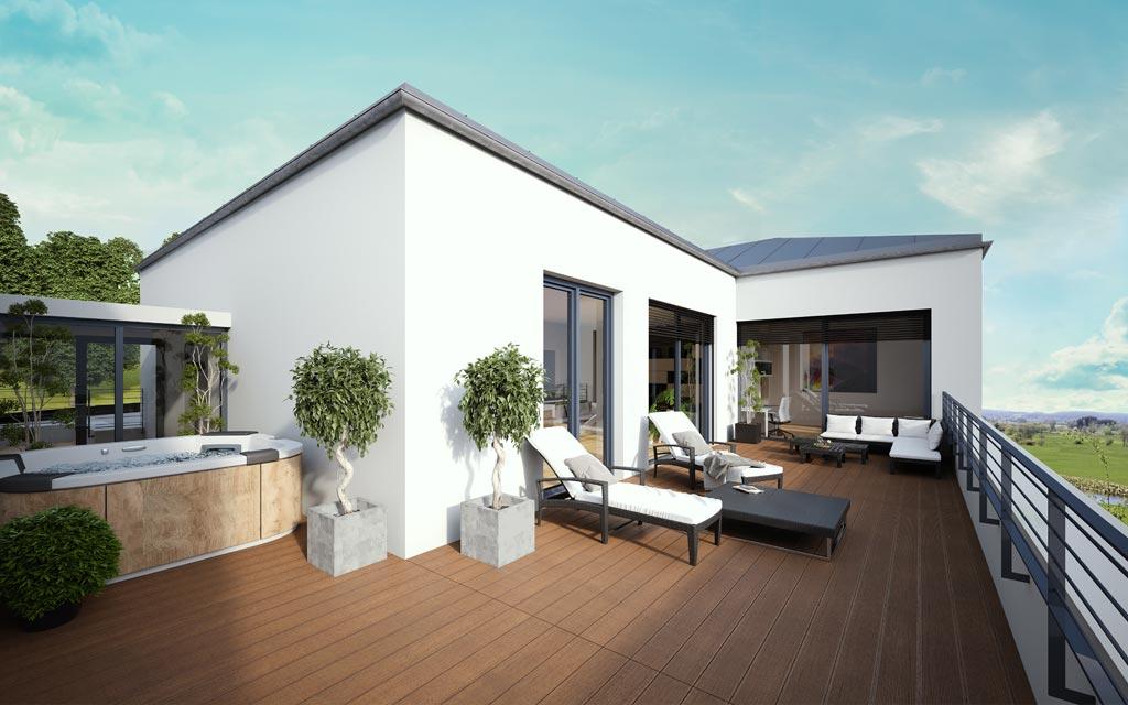OPUS Marketing / Projekte / Panoramapark / Visualisierung Dachterrasse