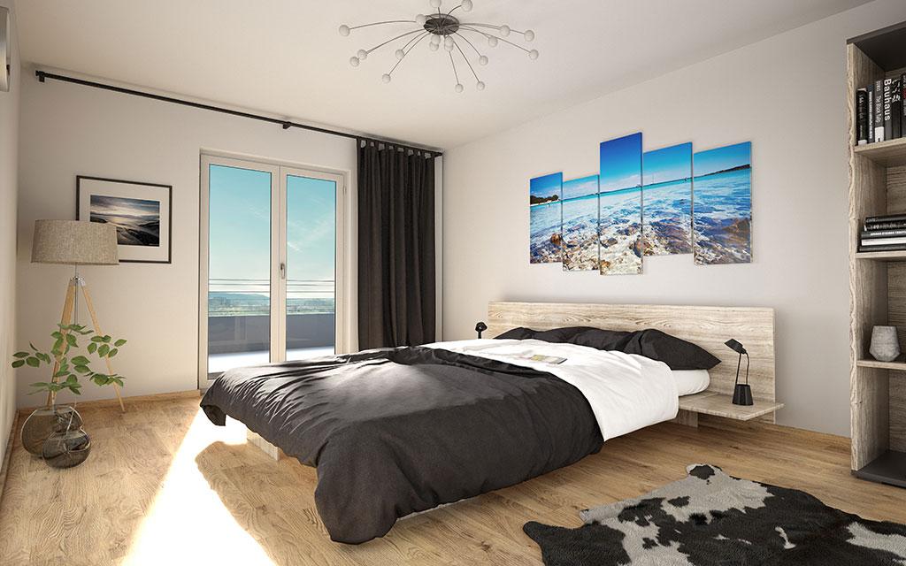 OPUS Marketing / Projekte / Panoramapark / Visualisierung Schlafzimmer