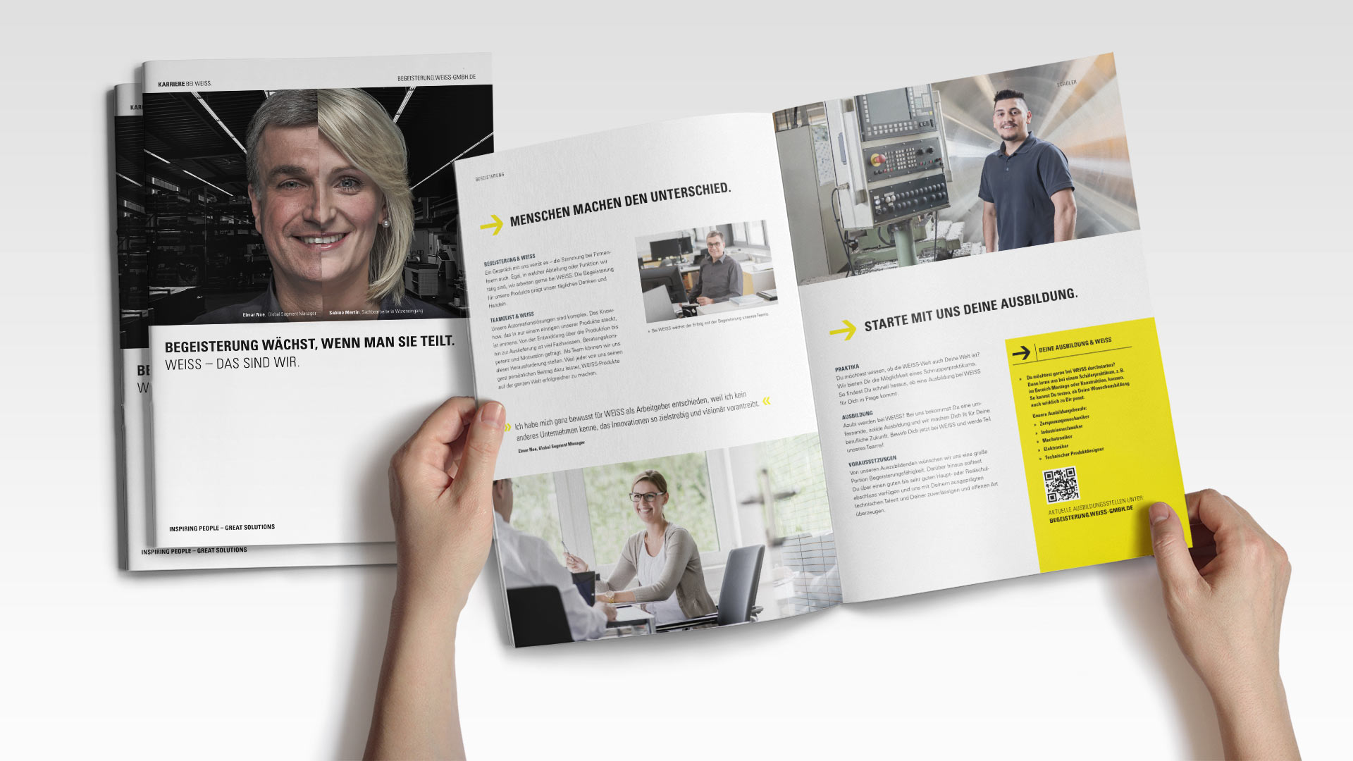 OPUS Marketing / Projekt / Karriere bei WEISS / Arbeitgeberbroschuere