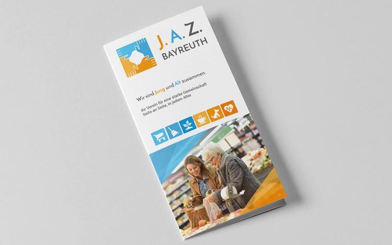 Der von Opus Marketing für J.A.Z Bayreuth gestaltete Flyer