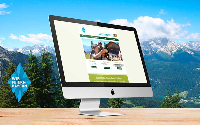100 Jahre Bayern Fotowettbewerb Webseite