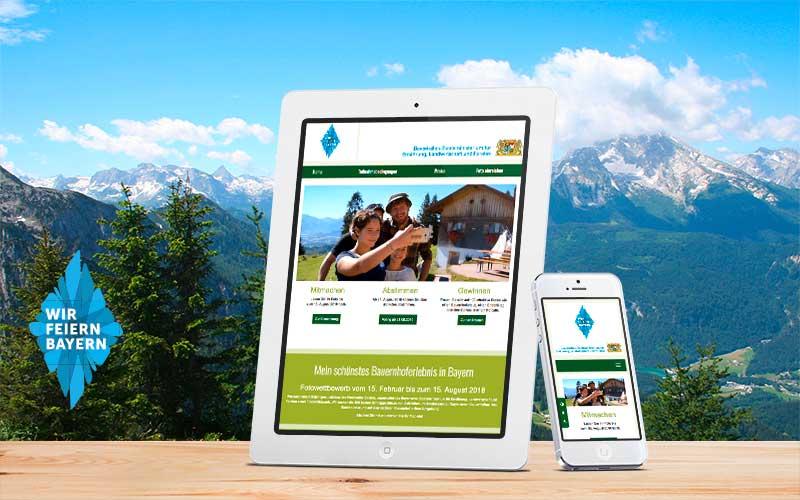 100 Jahre Bayern Fotowettbewerb Mobile Webseite