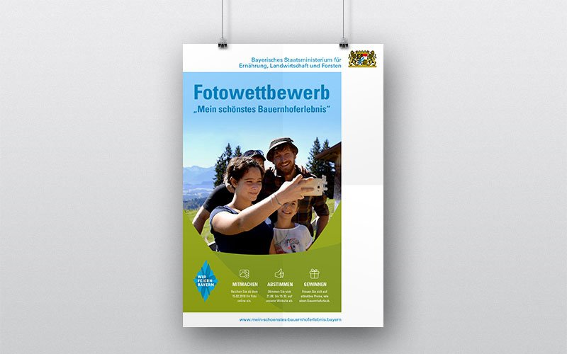 100 Jahre Bayern Fotowettbewerb Plakat