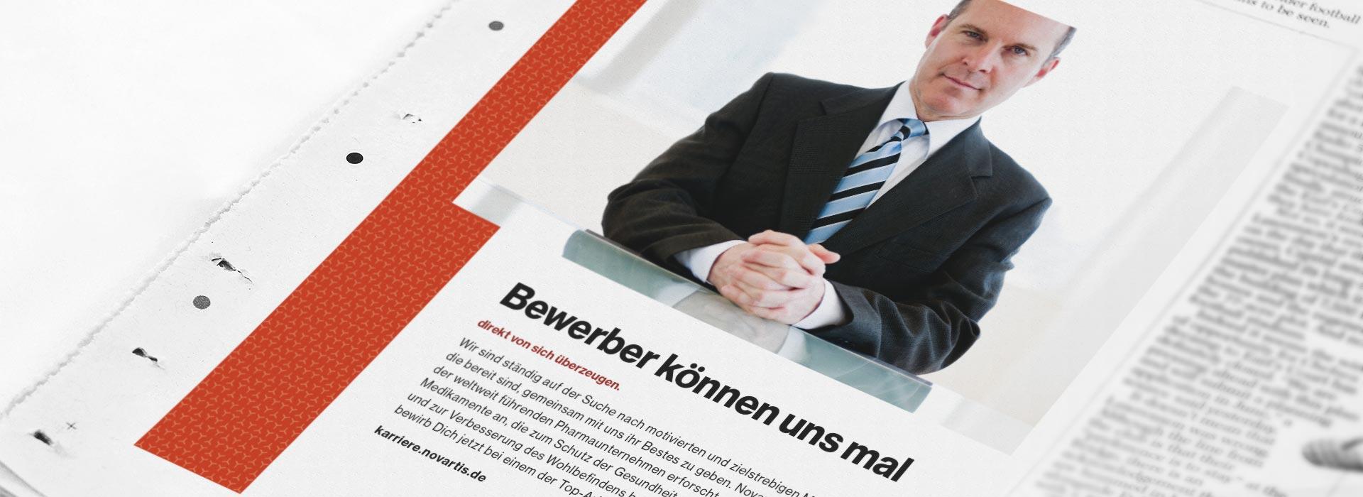 OPUS Marketing / Leistungen / Novartis / Employer Branding / Stellenausschreibung