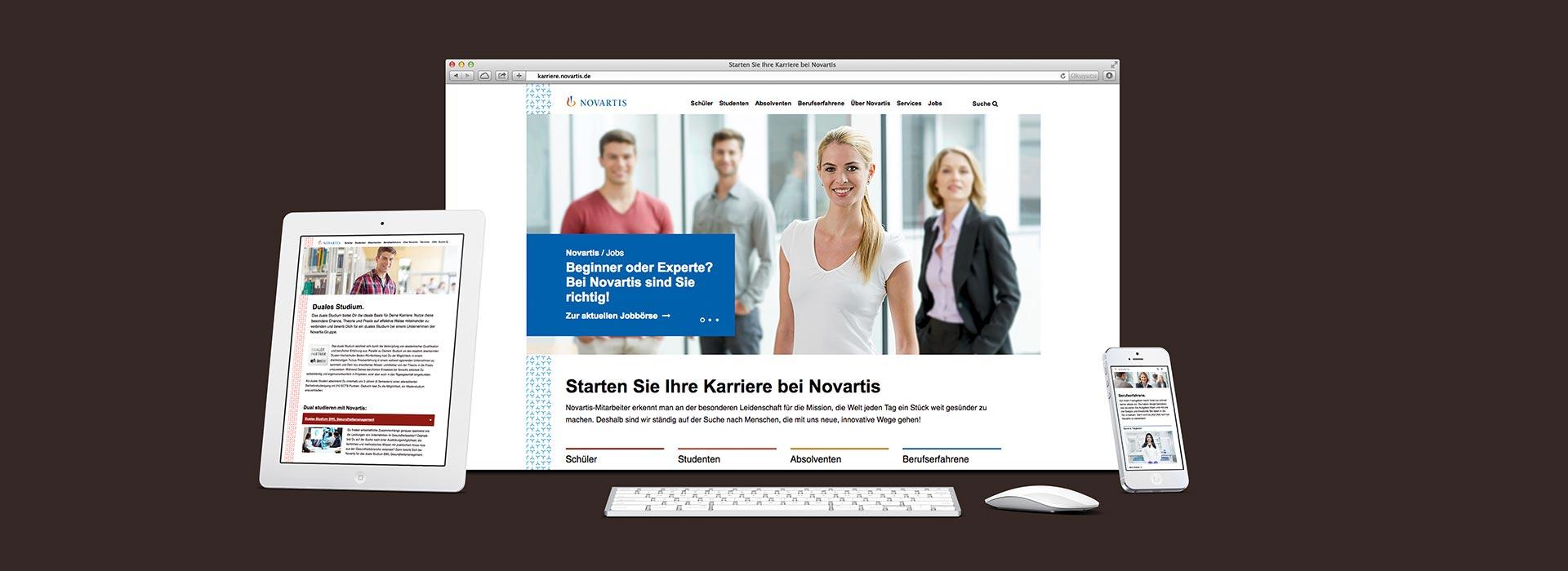 OPUS Marketing / Leistungen / Novartis / Employer Branding / Karriereplattform