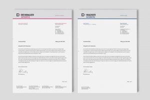 OPUS Marketing / Projekte / beinbauer group / wagner automotive / Geschäftsausstattung Briefbogen