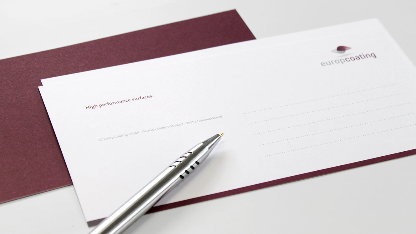 OPUS Marketing / Projekte / Europcoating / Compliment Card