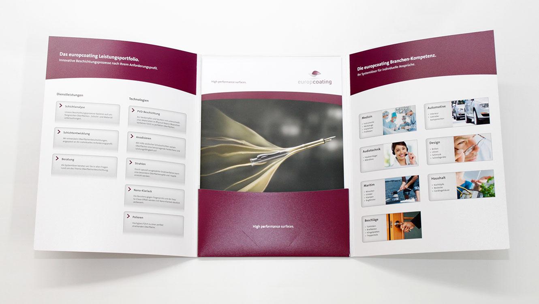 OPUS Marketing / Projekte / Europcoating / Imagemappe