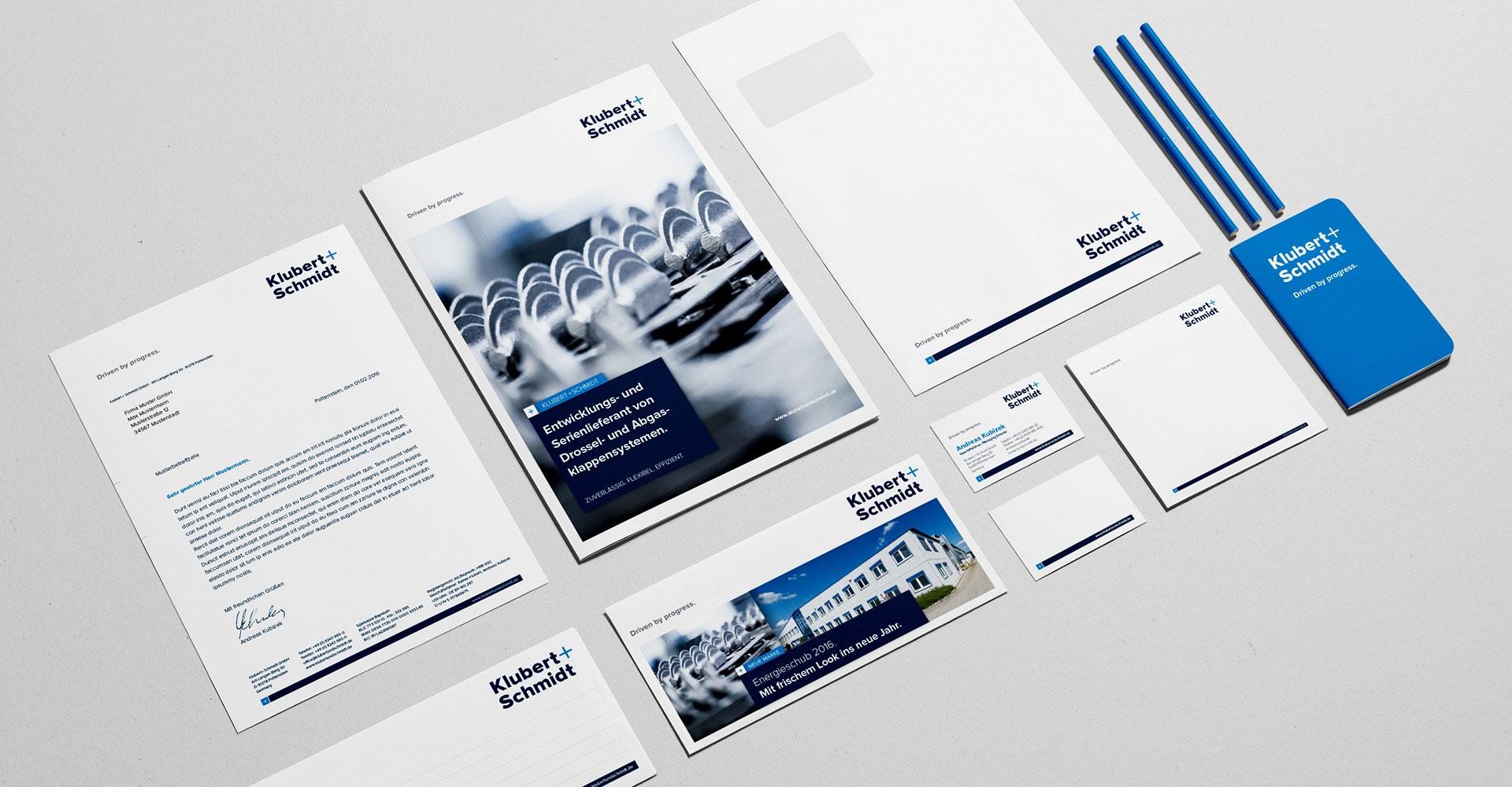 OPUS Marketing / Projekte / Klubert+Schmidt / Markenaufbau / Geschäftsausstattung