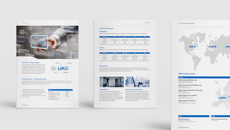 OPUS Marketing / Projekte / LAPP Insulators / Unternehmensbroschüre Seite