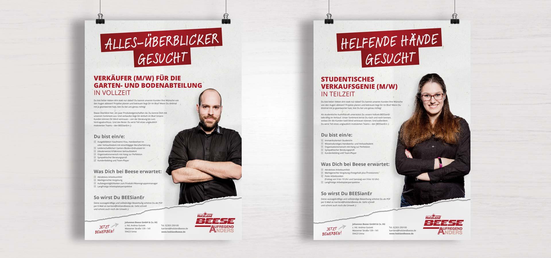 OPUS Marketing / Holzhandel / Arbeitgebermarke / Stellenanzeigen
