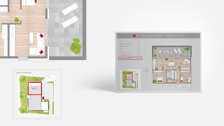 OPUS Marketing / Immobilienmarketing / Grundriss / Frankenresidenz