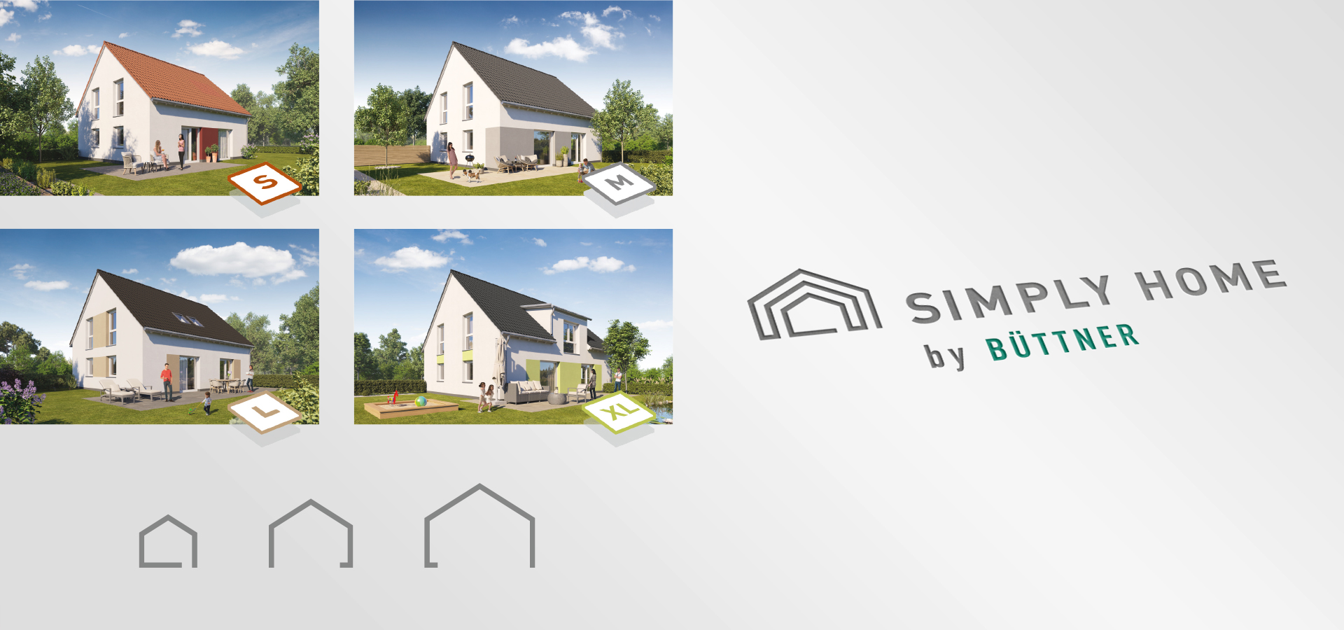 OPUS Marketing / Immobilienmarketing / Marke / SIMPLY HOME Logo