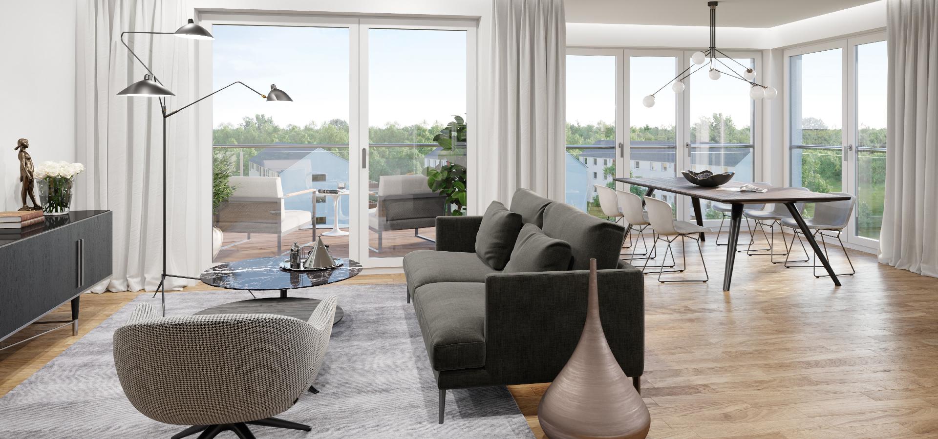 OPUS Marketing / Immobilienmarketing / Visualisierung / Wohnen