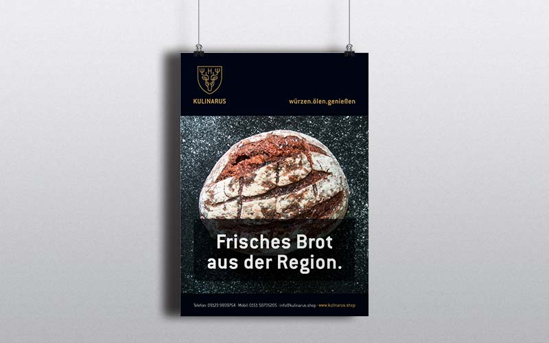 OPUS Marketing / Blog / Kulinarus / Markenaufbau / Plakat
