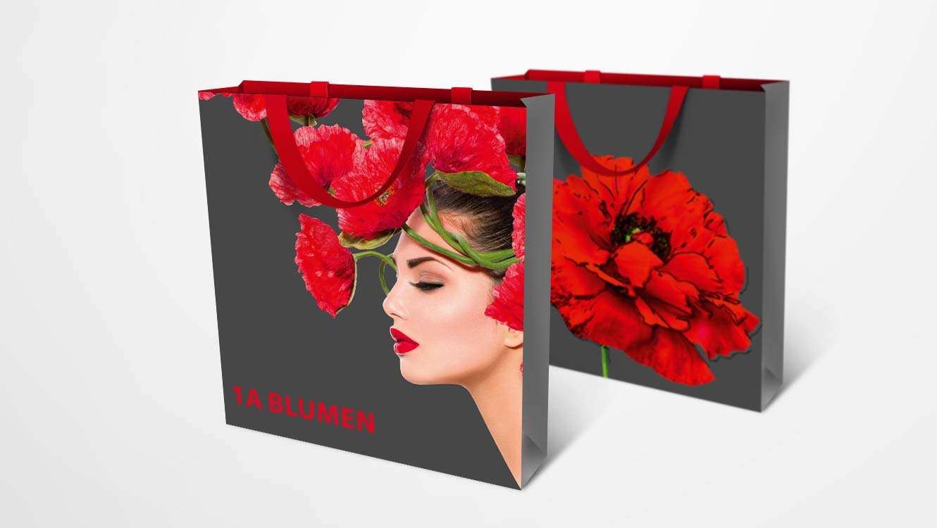 OPUS Marketing / Projekte / 1A Blumen / Tasche