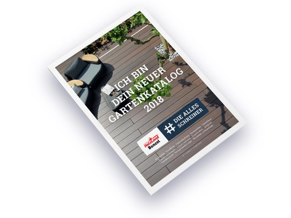 OPUS Marketing / Projekte / Holzland Bunzel / #dieallesschreiner / Gartenkatalog