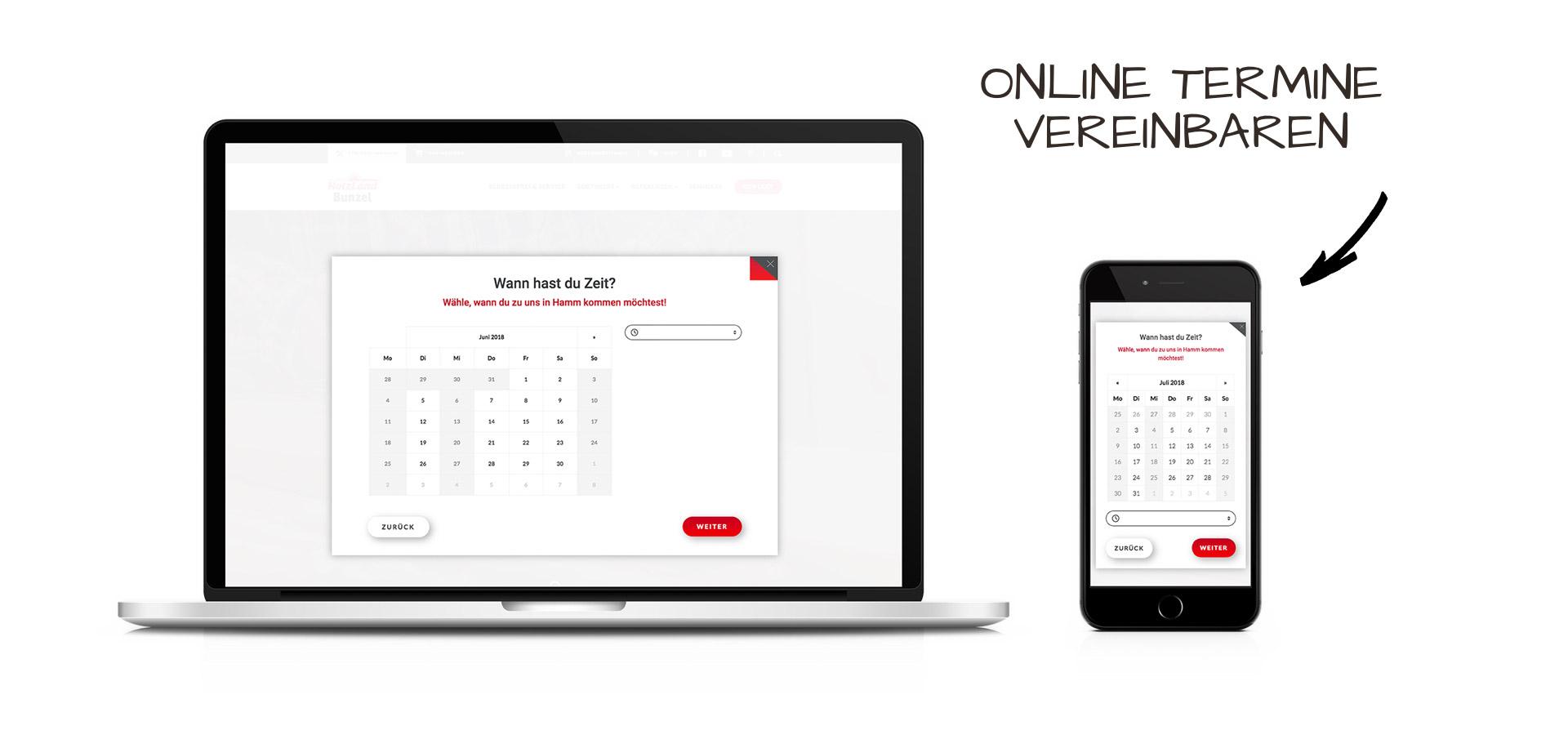 OPUS Marketing / Projekte / Holzland Bunzel / #dieallesschreiner / Terminvereinbarung
