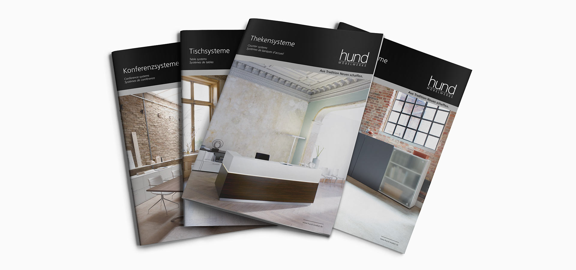 OPUS Marketing / Projekte / Hund Möbelwerke / Broschüren