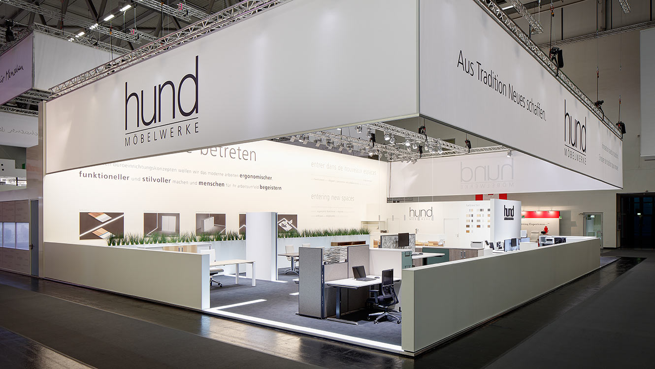 OPUS Marketing / Projekte / Hund Moebelwerke / Messestand Orgatec
