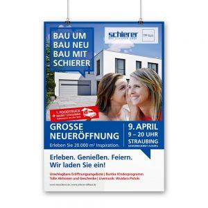 OPUS Marketing / Projekte / Max Schierer / Neueröffnung Plakat Kampagne