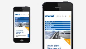 OPUS Marketing / Projekte / Maxit / Responsive Website