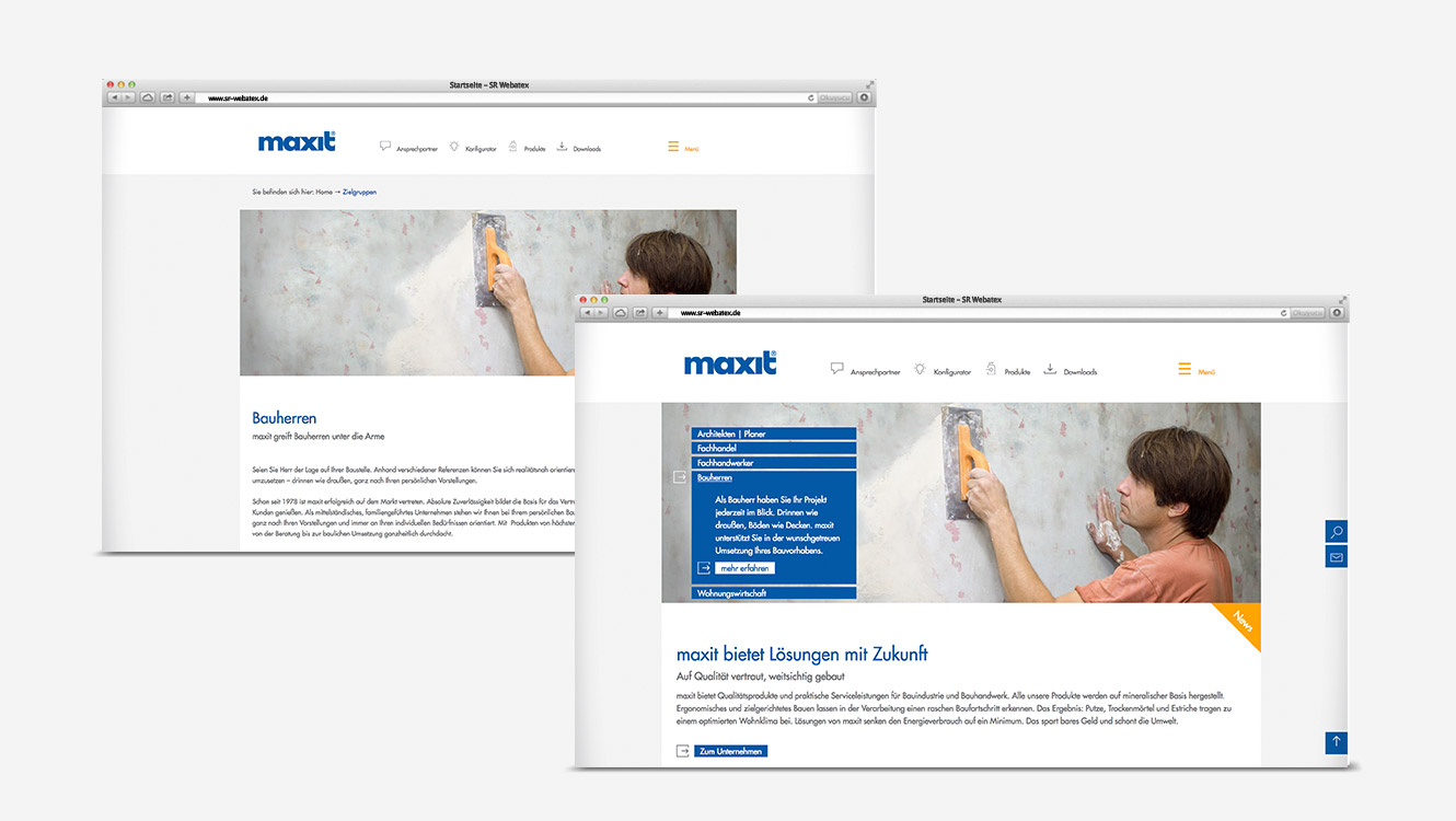 OPUS Marketing / Projekte / Maxit / Website / Zielgruppen