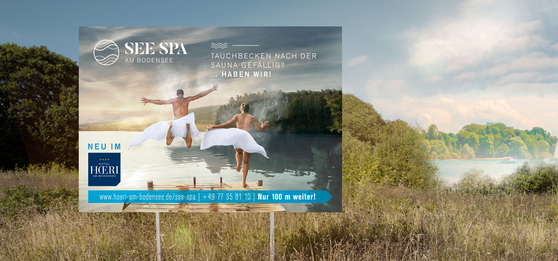 OPUS Marketing / Hotelmarketing / Großflächenwerbung / See Spa / Tauchbecken