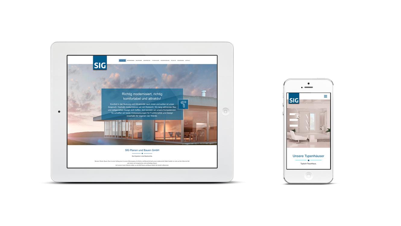 OPUS Marketing / Immobilienmarketing / Marke / SIG Bauen / Website