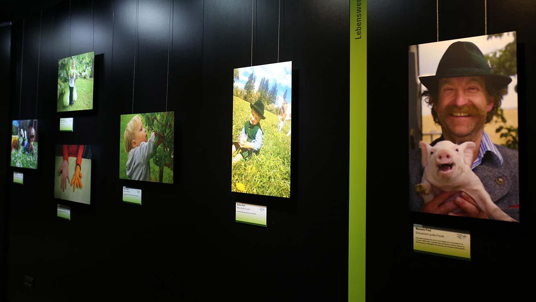 OPUS Marketing / Projekte / Ernährung / Bayerische Ernährungstage / Fotowettbewerb Ausstellung