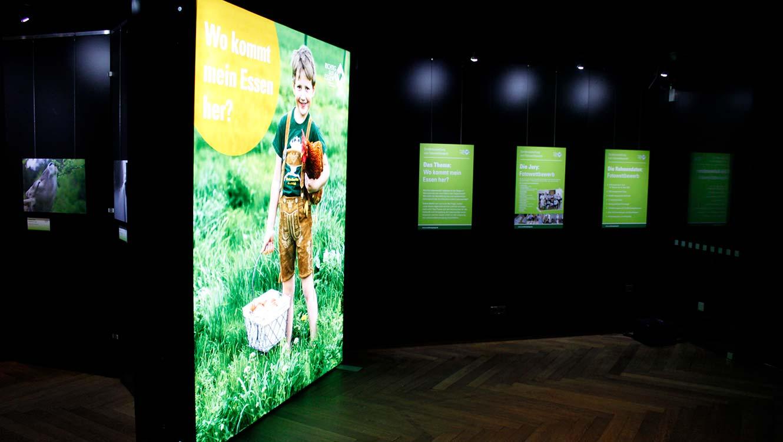 OPUS Marketing / Projekte / Ernährung / Bayerische Ernährungstage / Fotowettbewerb Ausstellung / Leuchtbanner