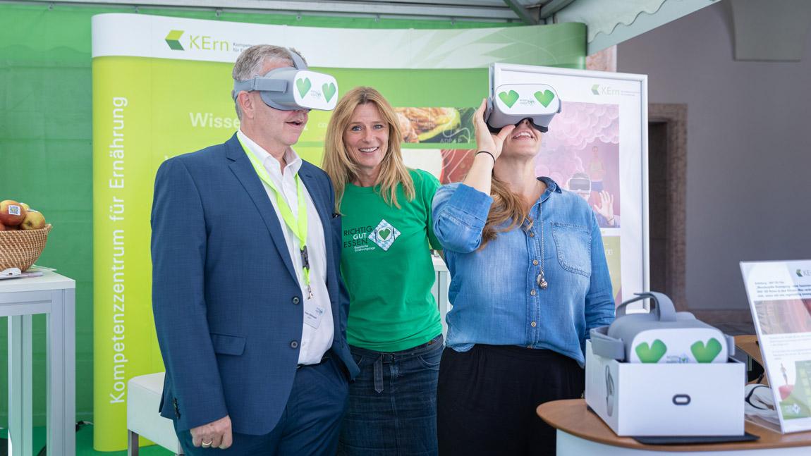 OPUS Marketing / Projekte / Ernährung / Bayerische Ernährungstage / Erlebnistag VR-Brille