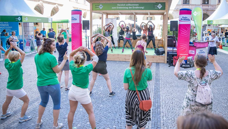 OPUS Marketing / Projekte / Ernährung / Bayerische Ernährungstage / Erlebnistag Zumba