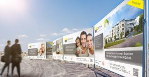 OPUS Marketing / Projekte / CO|STBAR / Baustellenausstattung / Großflächenwerbung