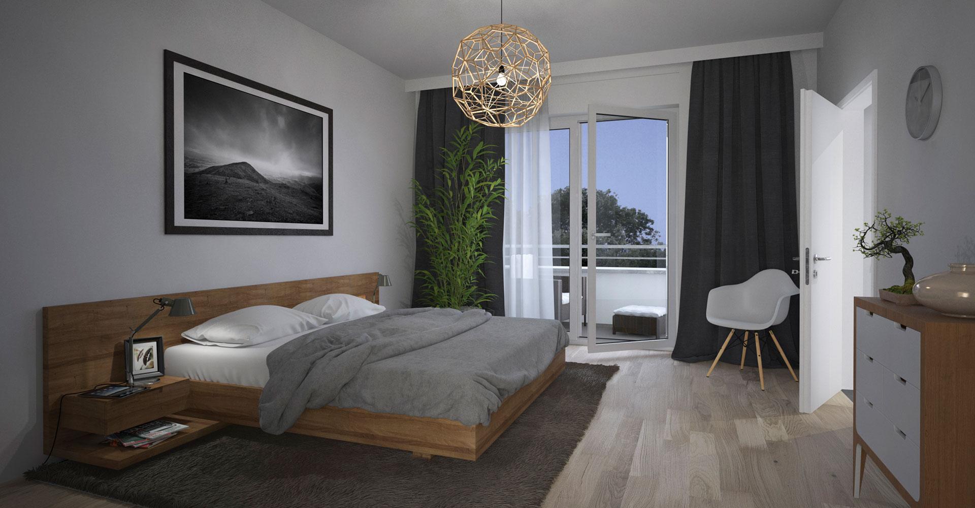 OPUS Marketing / Projekte / CO STBAR / Basics / Visualisierungen / Innen / Schlafen