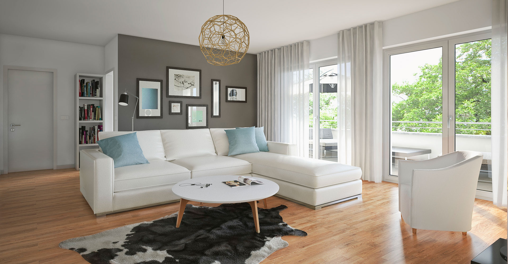 OPUS Marketing / Projekte / CO STBAR / Basics / Visualisierungen / Innen / Wohnzimmer
