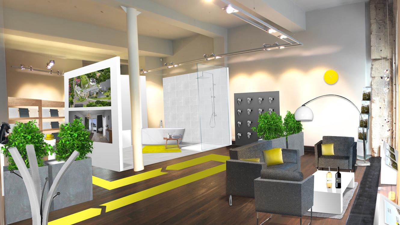 OPUS Marketing / Projekte / CO STBAR / Showroom / Visualisierung
