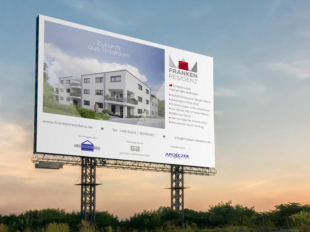OPUS Marketing / Projekte / Frankenresidenz / Baustellenausstattung
