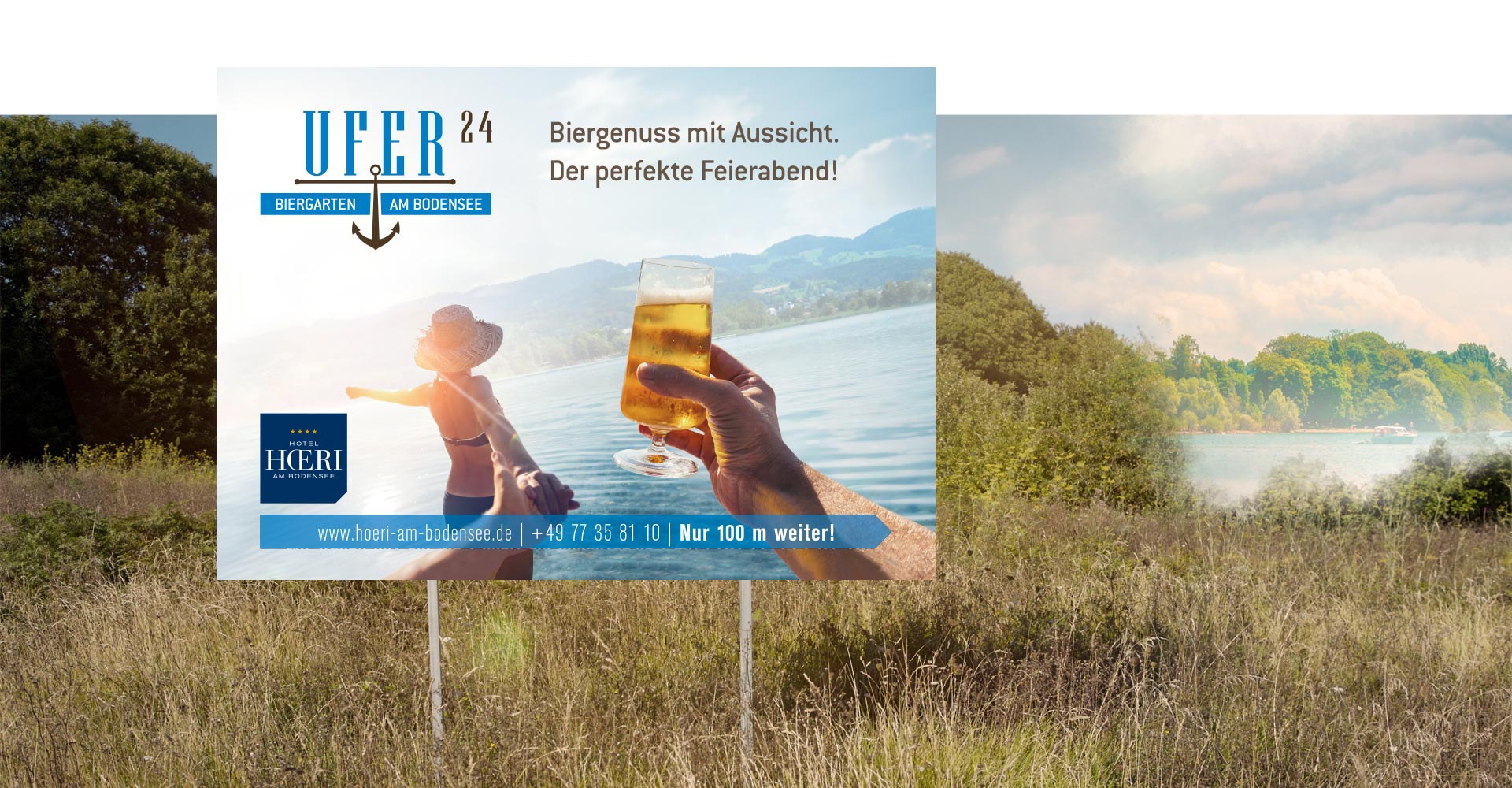 OPUS Marketing / Projekte / Hotel Hoeri am Bodensee / Großflächenwerbung / Plakat / Biergarten