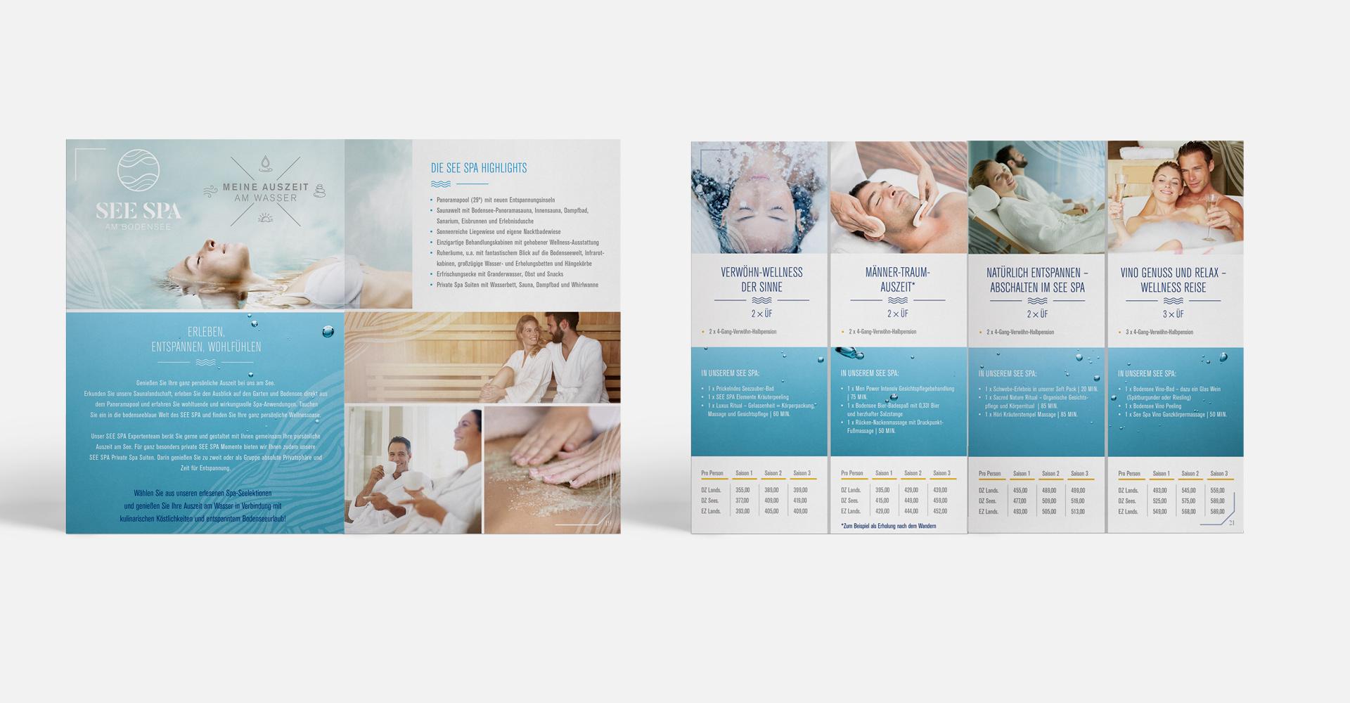 OPUS Marketing / Projekte / Hotel Hoeri am Bodensee / Print / Seenlektionen / Innenseiten