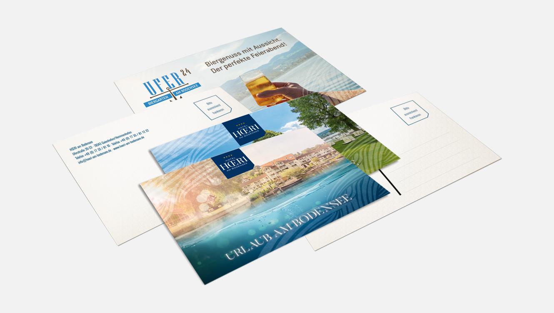 OPUS Marketing / Projekte / Hotel Hoeri am Bodensee / Print / Weitere Produkte / Postkarten