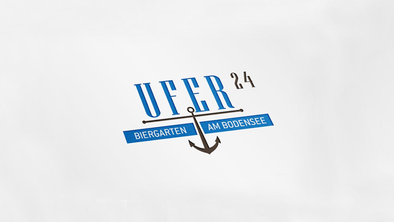OPUS Marketing / Projekte / Hotel Hoeri am Bodensee / Marke / Refresh Markenoptik / Marke Ufer24 Biergarten / Logo