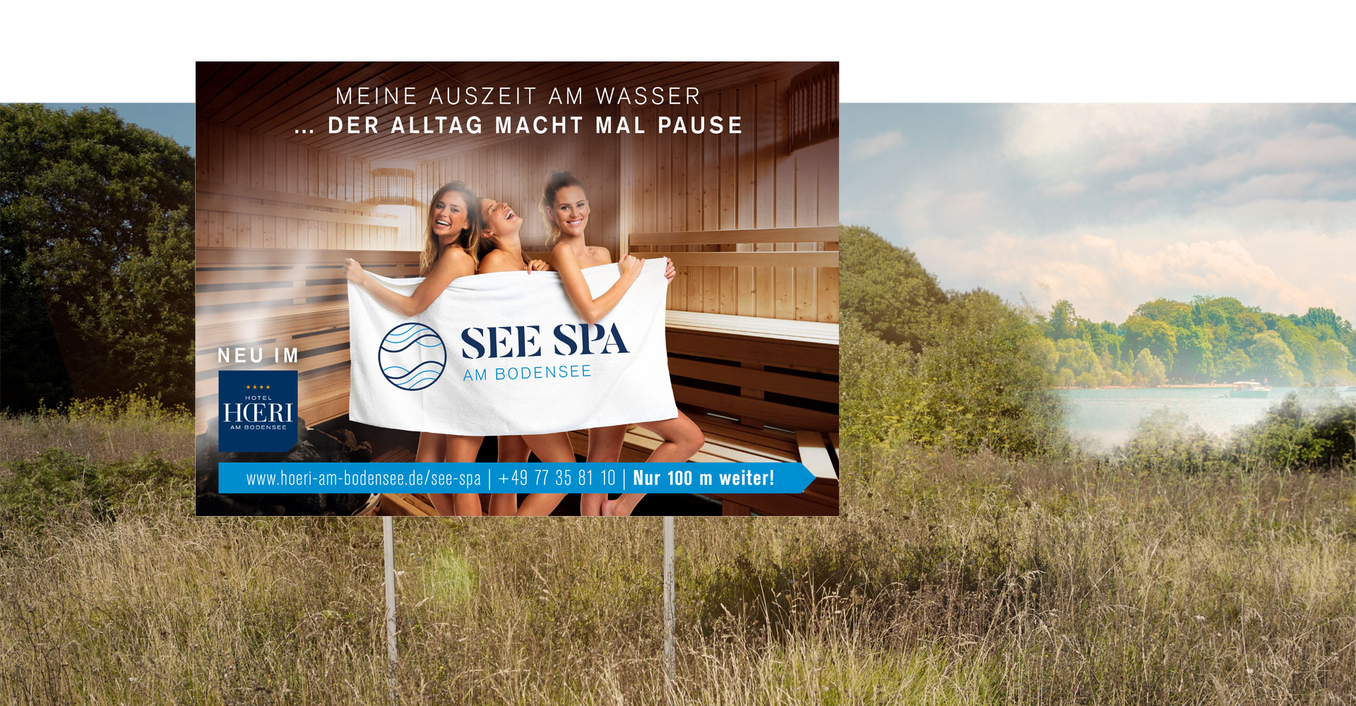 OPUS Marketing / Projekte / See Spa / Großflächenwerbung / Plakat