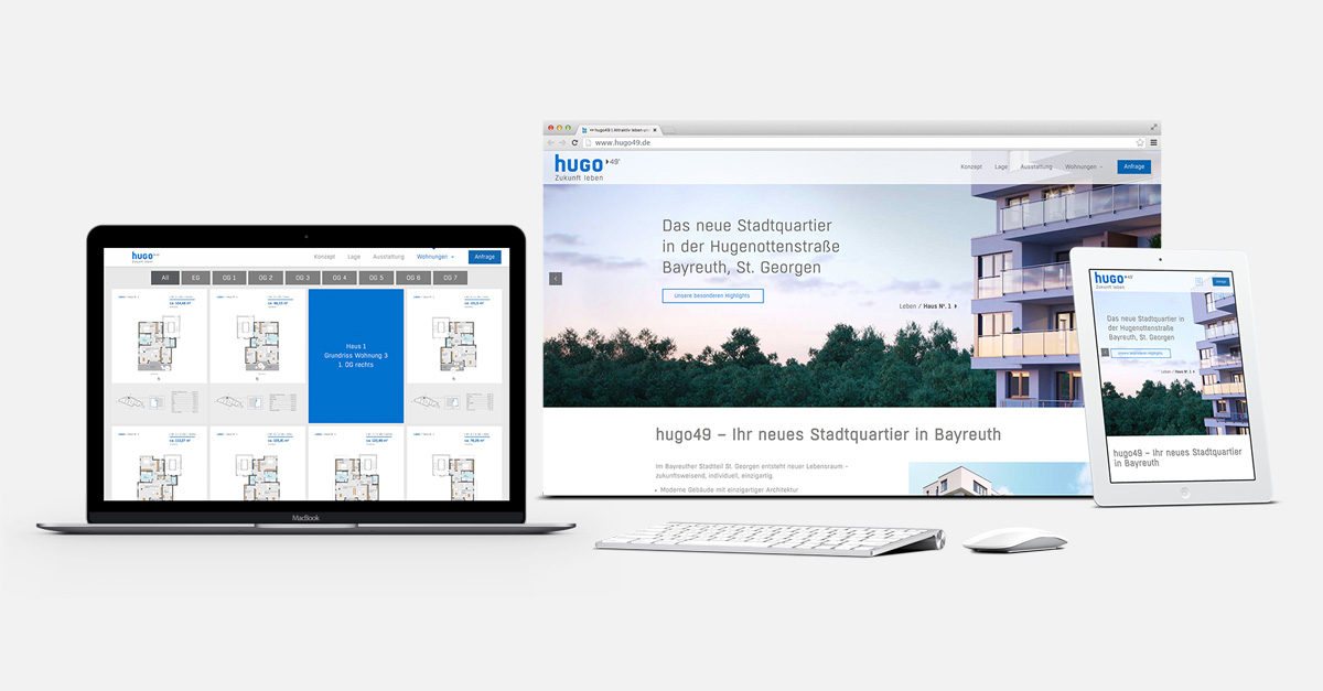 OPUS Marketing / Blog / Immobilienmarketing / hugo49 / Responsive Website
