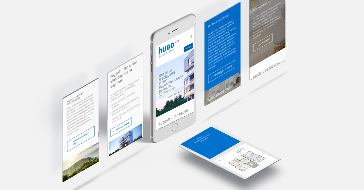 OPUS Marketing / Blog / Immobilienmarketing / hugo49 / Responsive Website / Mobil