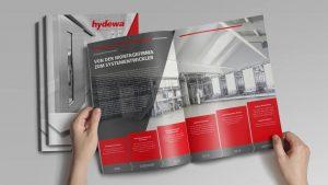 OPUS Marketing / Projekt Hydewa / Glasbord Broschuere Innenseite Geschichte