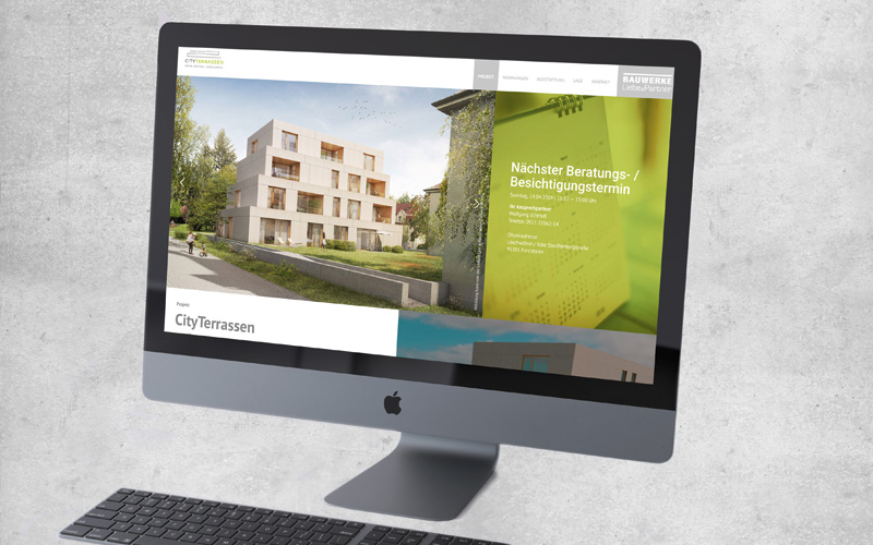 OPUS Marketing / Blog / Immobilienmarketing / Bauwerke Liebe und Partner / Projektseite