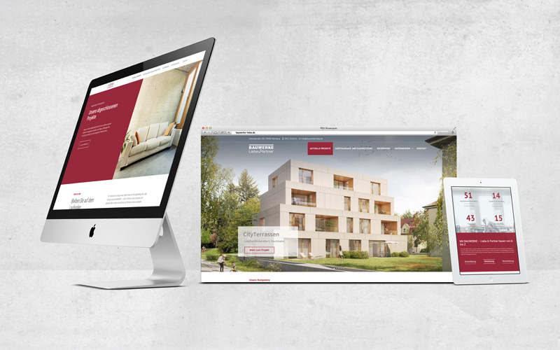 OPUS Marketing / Blog / Immobilienmarketing / Bauwerke Liebe und Partner / responsive Website