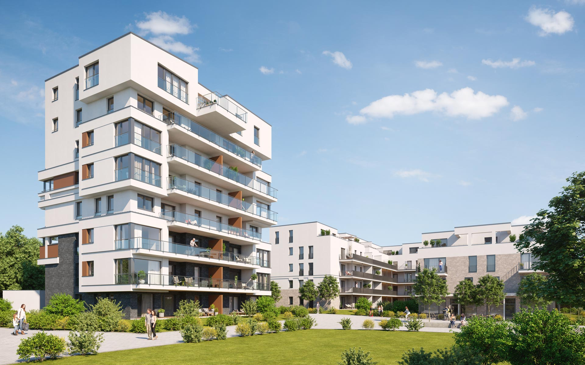 OPUS Marketing / Immobilienmarketing / hugo49 Bayreuth / Visualisierung / Aussenrendering Immobilie