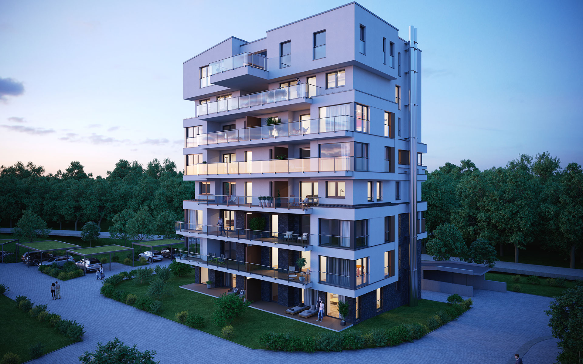 OPUS Marketing / Immobilienmarketing / hugo49 Bayreuth / Visualisierung / Aussenrendering